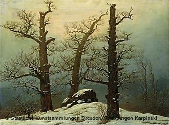 Dolmen in Snow~Caspar David Friedrich