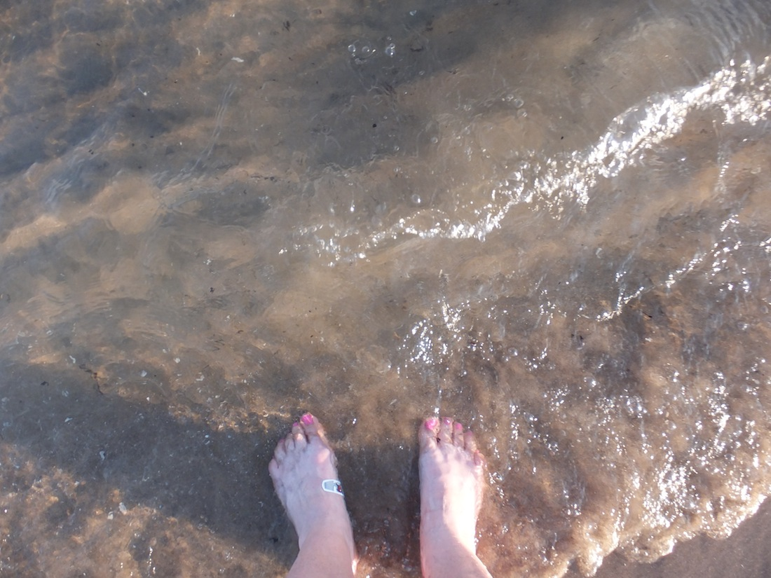 My feet in Lake Ontario