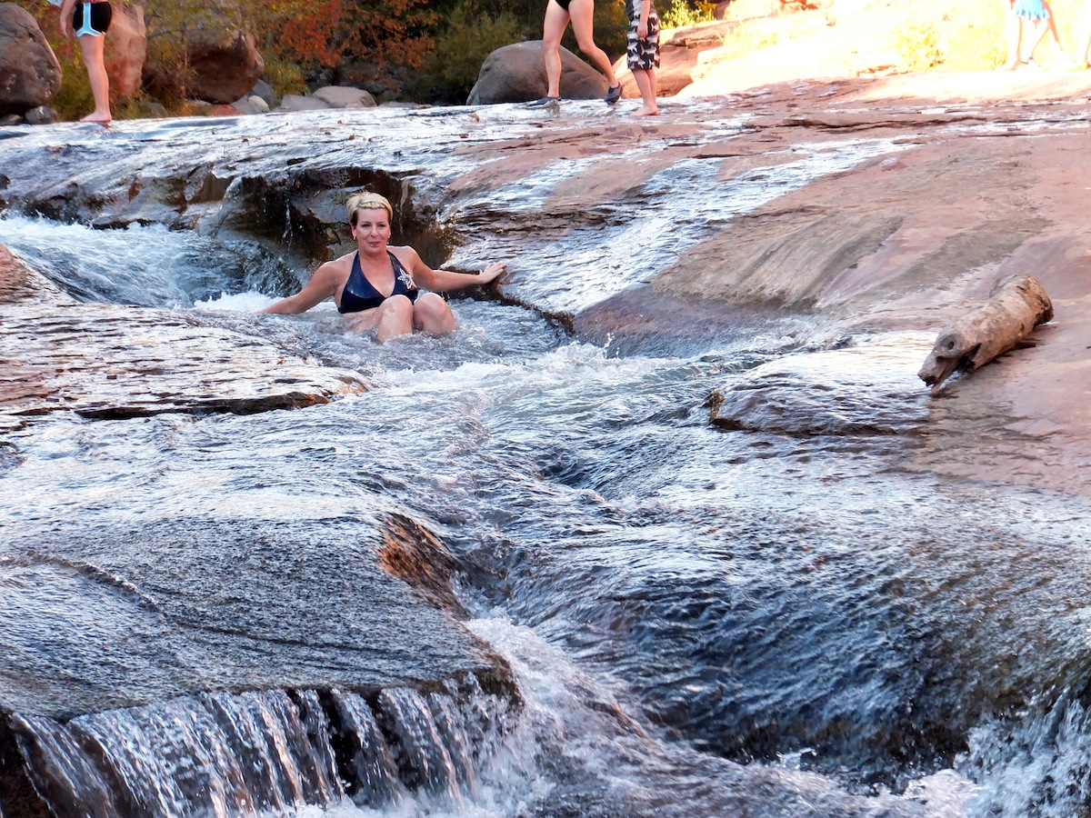 Janna white water rafting without a raft
