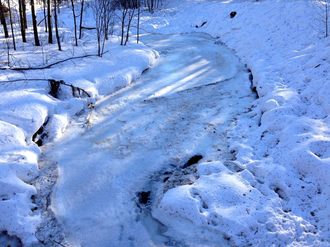 Mill Creek frozen over