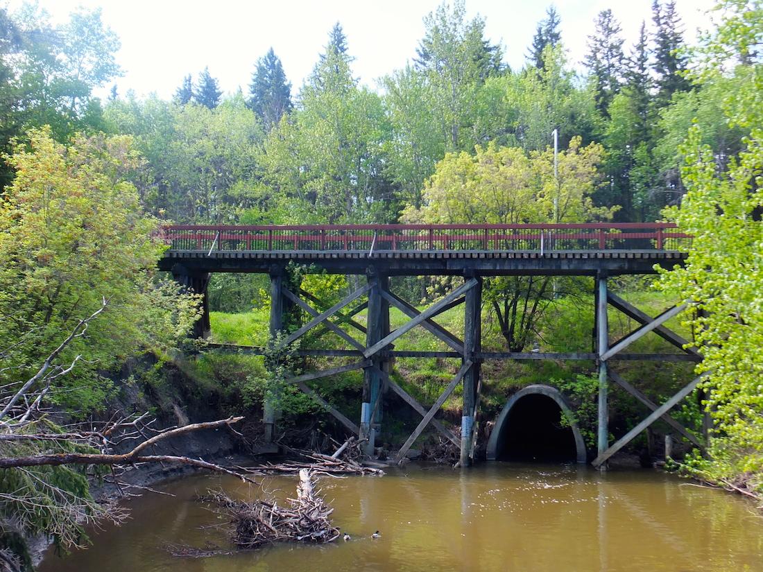 Mill Creek trestle bridge