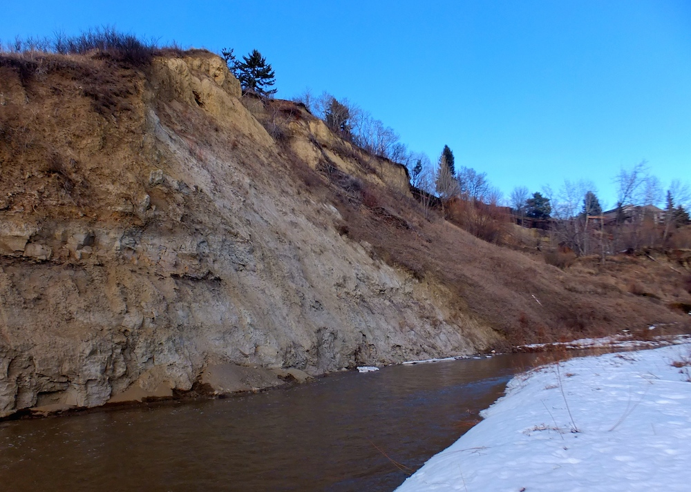 The newly open creek