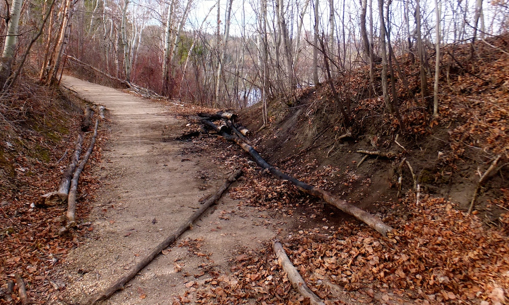 Small fire along Skunk Hollow trail