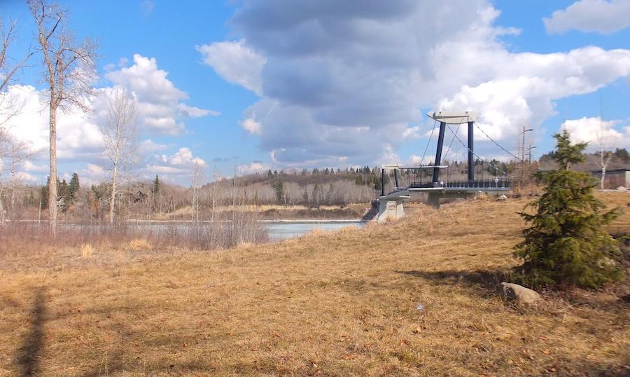 Footbridge from afar