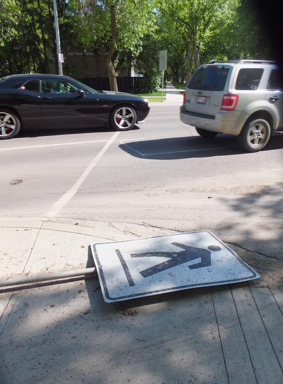 Pedestrian-crossing fail (in Glenora)