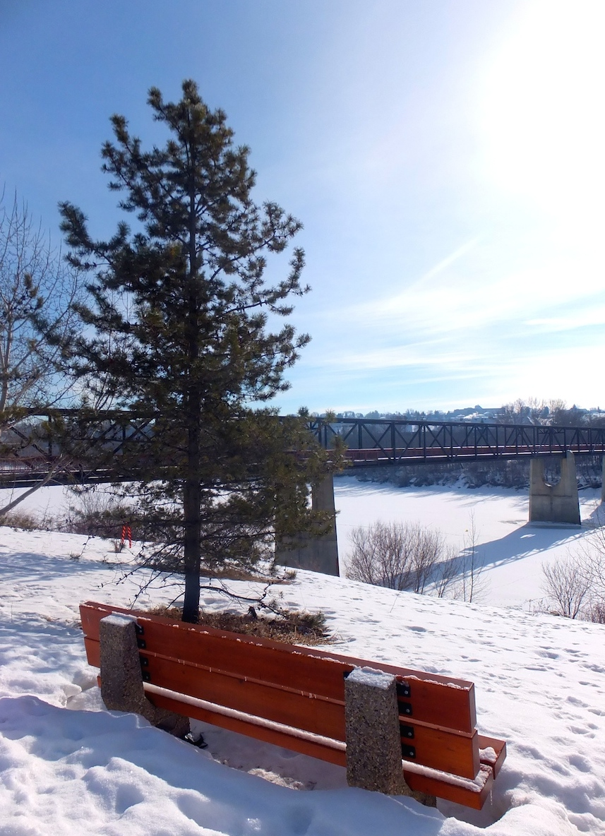 A bridge in winter