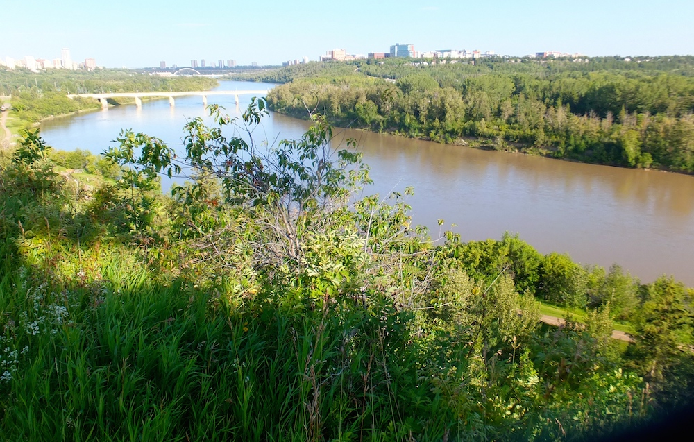 View of the river valley from Glenora