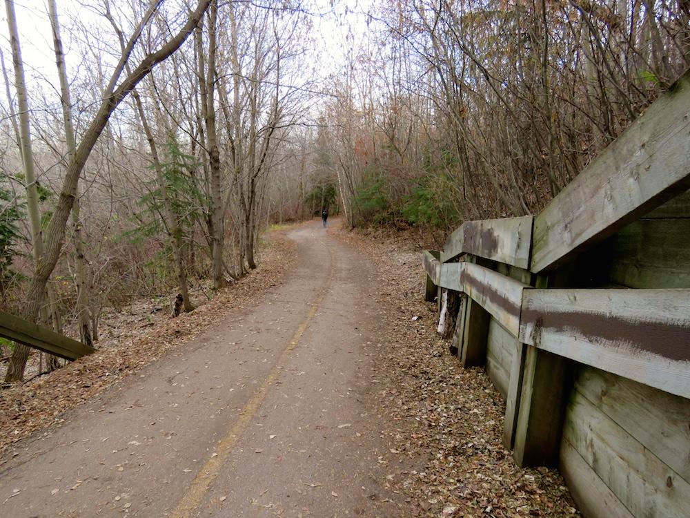 The trail below the University/Saskatchewan Drive